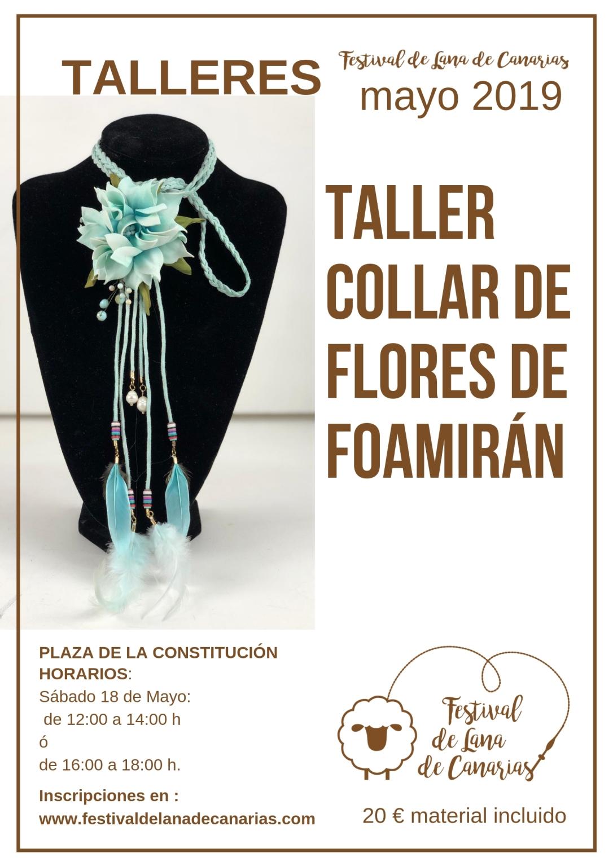 TALLER DE COLLAR CON FLORES DE FOAMIRÁN (1)